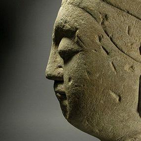 A Stone Bodhisattva Head of Northern Qi Dynasty(5th--)