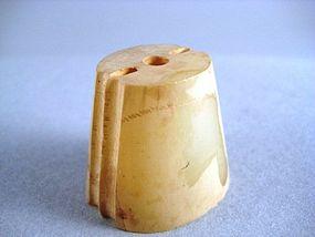 A Fine White Jade Pommel of Han Dynasty(25-220)