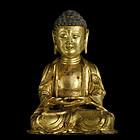 A Gilt-Bronze Buddha of Ming Dynasty,1368-1644