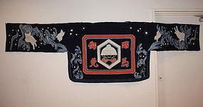 Edo tsutsugaki textile horse Cover Rabbit