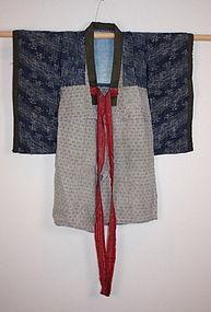 Edo kasuri child kimono echigo-jyofu Rare