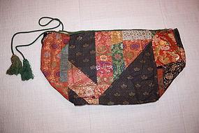 Edo  kinran ginran Nishijin textile kome-bukuro