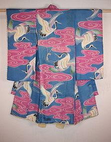 Taisyo Impressive katzome silk Child kimono