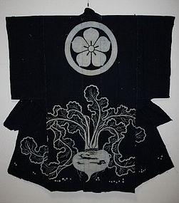 Japanese Edo period Tsutsugaki yogi Indigo dye kimono