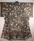 Edo silk tsumugi yuzen kimono textile