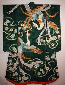 Taisyo Rinzu silk Gorgeous uchikake kimono