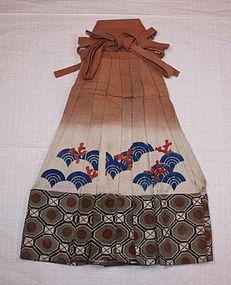 japanese edo katazome Child's hakama textile