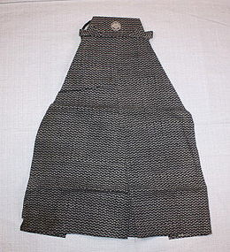 Japanese edo komon-katazome cotton child's hakama
