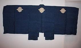 Japanese indigo dye hemp Samurai's full dress in Edo