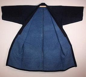 Meiji akita Indigo dye sashiko noragi naga-hanten