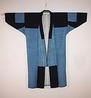 Meiji indigo dye sashiko noragi of Aomori Prefecture