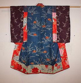 Edo-meiji tsutsugaki & benibana-shibori Child jyuban