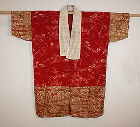 Edo period Safflower-dye itajime & katazome han-jyuban