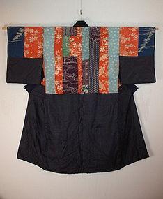 Edo yosegire Patchwork silk katazome kimono textile