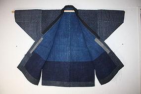 edo katazome Indigo dye cotton noragi hanten