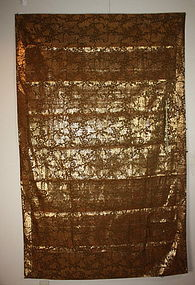 meiji silk kesa kinran-Weave Lion and arabesque