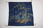 Edo rinzu silk fukusa textile bamboo and bamboo shoots