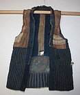 Meiji  boro Raggedly Patchwork Rare child Vest