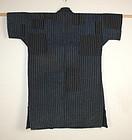 Meiji Indigo dye Stripes sashiko Patchwork noragi