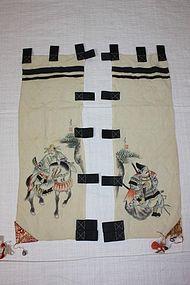 Japanese sekku-nobori chirimen-silk textile
