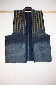 Meiji sashiko Indigo dye cotton boro noragi Vest textil