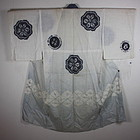 Japanese antique hemp jyuban kimono textile