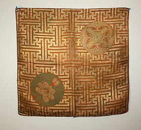Edo kinran silk uchishiki nishijin textile