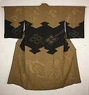 Japanese silk shibori jyouban kimono