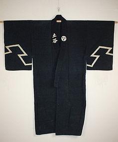 Meiji rikusyaku kanban Thick indigo dye hand-spun