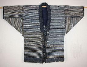 Japanese Paper and sakiori noragi textile meiji  rare