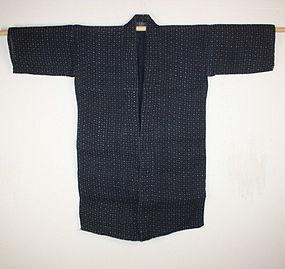 Japanese Indigo dye thick hemp katazome noragi meiji