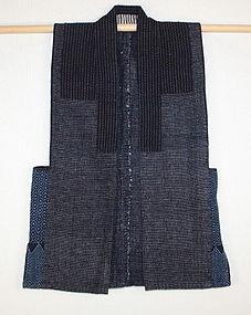 Japanese meiji Indigo dye sakiori sashiko striped best