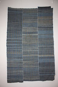 Japanese Indigo dye Stripe and zanshi weave futon Cover