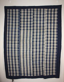 Japanese Indigo dye Stripe weave futon Cove hand-spun