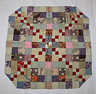 Japanese meiji silk Patchwork uchishiki textile