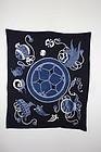 Edo thick Indigo dye cotton tsutsugaki hand-spun