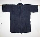 Meiji  Indigo dye hemp kasuri noragi textile