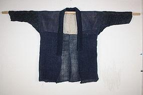 Meiji Hemp Indigo dye mojiriori asehajki textile