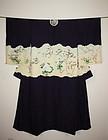 Japanese silk meiji katsugi-Kimono with the family coat