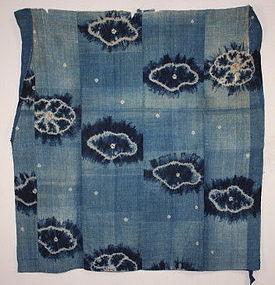 Meiji Indigo dye katazome & shibori boro Futon cover