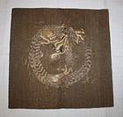 Edo kinkoma-Embroidery silk fukusa textile dragon