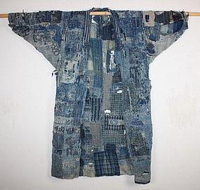 Edo ear boro Tattered noragi textile of Niigata rare !!