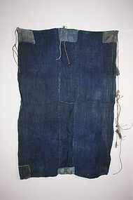 Edo Indigo thick hemp boro tattered rag textile