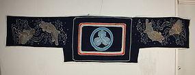 meiji antique Horse cover tsutsugaki-katazome textile