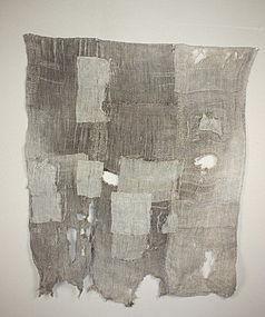 Edo old hemp & fuji  boro tatterd sahiko textile rare