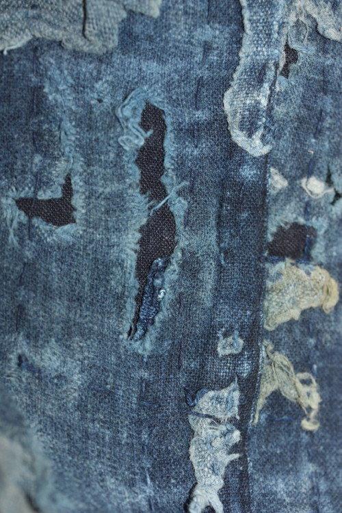 Boro indigo dye Patchwork sashiko tattsuke textile