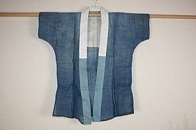 edo Indigo dye hemp samurai han-jyuban textile