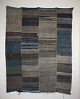 Japanese Antique boro Textile Sakiori futon cover