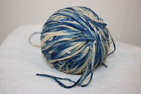 Meiji Indigo dye cotton Lump of a charming thread