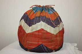Edo Antheraea yamamayu silk Patchwork komebukuro